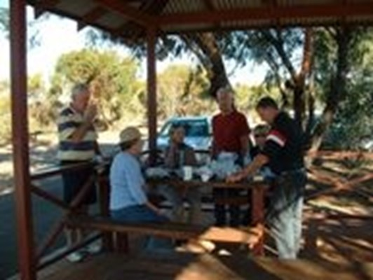 Morawa - Tourists taking a break in Morawa