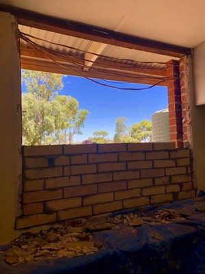 Kitchen Project Progress Photos - 17. Window getting bricked up