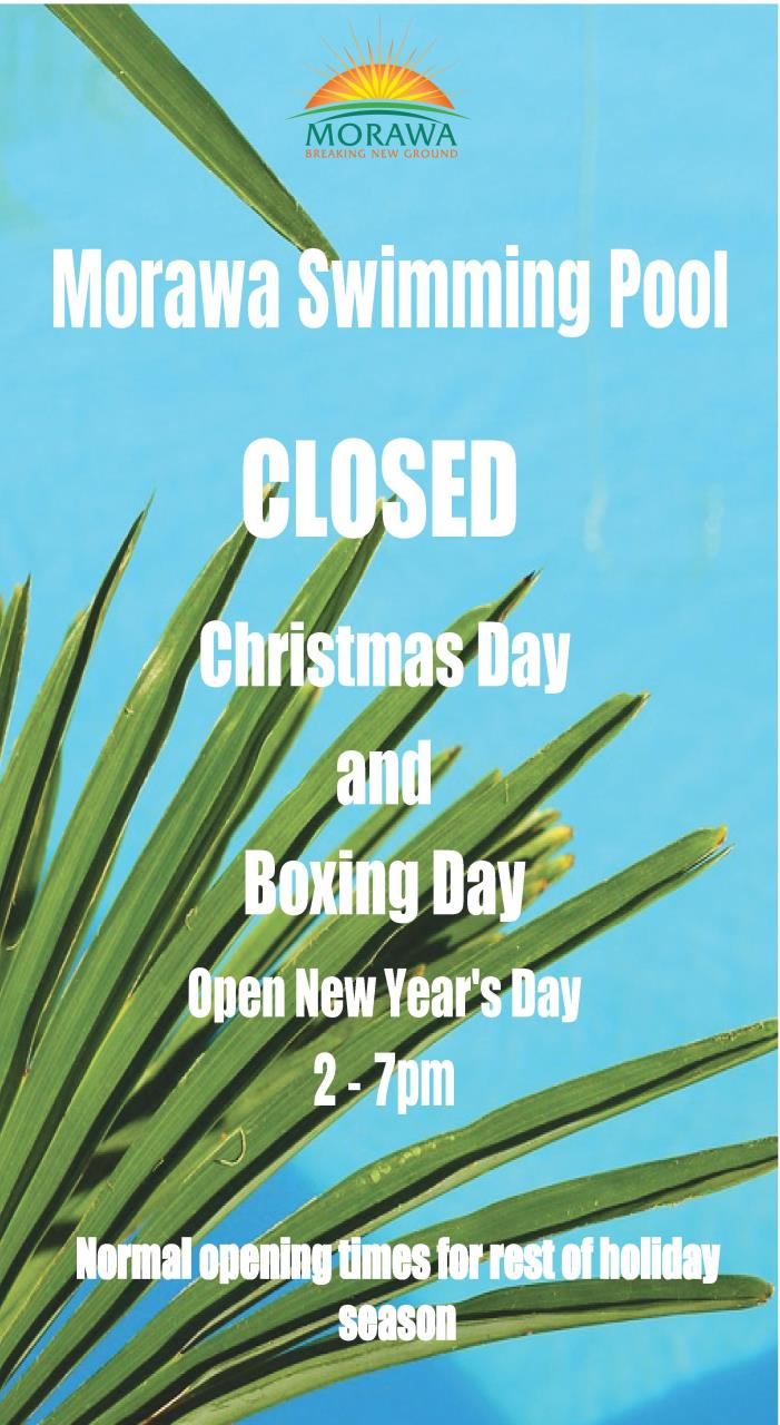 Christmas New Year Pool Hours