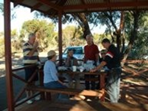 Tourists taking a break in Morawa